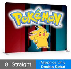 8' Straight EZ Tube Display - Double Sided - Graphic Only