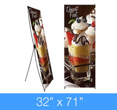 """X-Stand Banner Stand 32"""" x 71"""""""