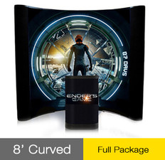 8ft Curved Big Wave PopUp Display