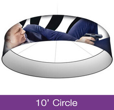 10ft Circle Hanging Sign