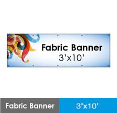 Fabric Banner 3'x10'