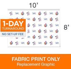 Jumbo Step & Repeat 10 x 8 Backdrop Replacement Print
