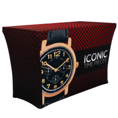 4ft Stretch Table Throw ICONIC Angle