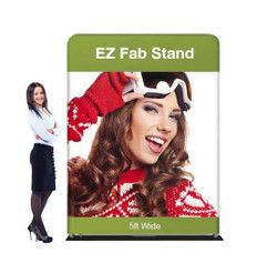 5ft EZ Fab Banner Stand Display