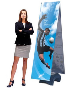 Zephyr Banner Stand Double-Sided