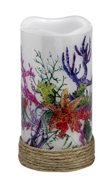 LED Candle- Coral Garden