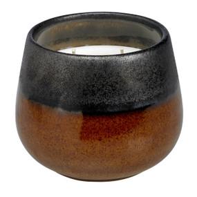 Stoneware Collection - Black & Tan 3-wick