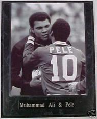 Muhammad Ali & Pele Boxing & Soccer 10.5x13 Plaque