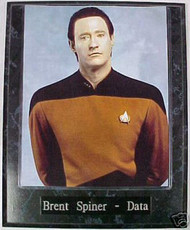Brent Spiner Data Star Trek The Next Generation 10.5x13 Plaque