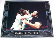 Mankind & The Rock WWE Wrestling 10.5x13 Plaque