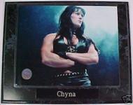 Chyna WWE Wrestling 10.5x13 Plaque