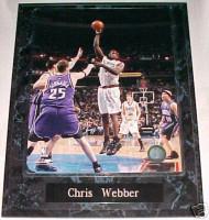 Chris Webber Philadelphia 76ers 10.5x13 Plaque
