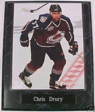Chris Drury Colorado Avalanche 10.5x13 Plaque