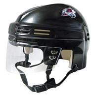 Colorado Avalanche NHL Black Player Mini Hockey Helmet