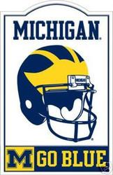 Michigan Wolverines NCAA Football Riddell Nostalgic Sign