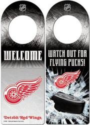 Detroit Red Wings NHL Team Logo Wincraft 11.75x4.125 Wood Door Hanger