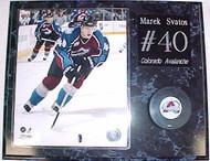 Marek Svatos Colorado Avalanche 15x12 Plaque With Puck
