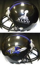 Baltimore Ravens Super Bowl 47 XLVII Champions Riddell NFL Replica Mini Helmet