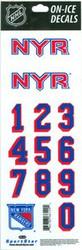 New York Rangers Sportstar Officially Licensed Authentic Center Ice NHL Hockey Helmet Decal Kit #2