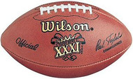 Super Bowl 31 XXXI Wilson Official NFL Game Football Packers vs. Patriots