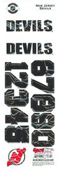 New Jersey Devils Sportstar Officially Licensed Authentic Center Ice NHL Hockey Helmet Decal Kit #1