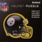 """Pittsburgh Steelers Riddell NFL 16""""x16"""" Helmet Puzzle 100 Pieces"""
