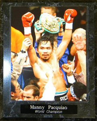 Manny Pacquiao Boxing World Champion 10.5x13 Plaque