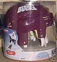 Anaheim Mighty Ducks NHL Player Throwback Purple Mini Helmet 6-Pack Box