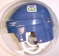 Hartford Whalers NHL Blue Player Throwback Mini Helmet