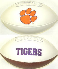 Clemson Tigers Rawlings Jarden Sports Signature NCAA Full Size Fotoball Football - BLOWN UP with BOX & PEN