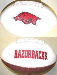 Arkansas Razorbacks Rawlings Jarden Sports Signature NCAA Full Size Fotoball Football - BLOWN UP with BOX & PEN