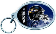 Baltimore Ravens NFL Team Logo Wincraft Acrylic Oval Key Ring