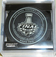 2014 Stanley Cup Finals Game 2 NHL Hockey Official Game Puck Los Angeles Kings vs. New York Rangers