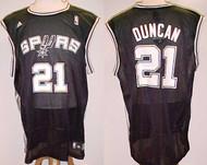 Tim Duncan San Antonio Spurs Black #21 Adidas XL Road Jersey