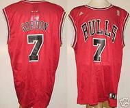Ben Gordon Chicago Bulls Red #7 Adidas XL Road Jersey