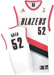 Greg Oden Portland Trailblazers #52 Adidas XL White Home Jersey