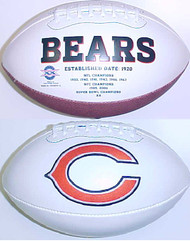 Chicago Bears Rawlings Jarden Sports Signature NFL Full Size Fotoball Football Current Version - BLOWN UP with BOX & PEN