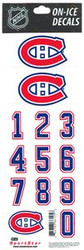 Montreal Canadiens Sportstar Officially Licensed Authentic Center Ice NHL Hockey Helmet Decal Kit #1