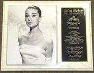Audrey Hepburn Legendary Actress 12x15 Custom Plaque
