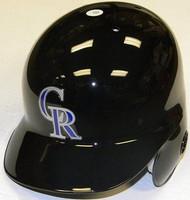 Colorado Rockies Rawlings Full Size Authentic Right Handed Batting Helmet - Left Flap Regular