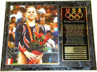 Shawn Johnson Team USA Olympic Games 15x12 Gold Medal Plaque