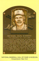 Mike Schmidt Phillies Hall Of Fame Postcard