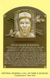 Dave Winfield Padres Hall Of Fame Postcard