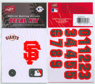 San Francisco Giants Official Rawlings Authentic Batting Helmet Decal Kit