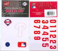 Philadelphia Phillies Official Rawlings Authentic Batting Helmet Decal Kit
