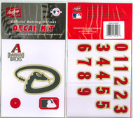 Arizona Diamondbacks Official Rawlings Authentic Batting Helmet Decal Kit