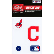 Cleveland Indians Official Rawlings Authentic Batting Helmet Decal Kit