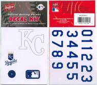 Kansas City Royals Official Rawlings Authentic Batting Helmet Decal Kit