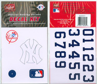 New York Yankees Official Rawlings Authentic Batting Helmet Decal Kit