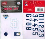San Diego Padres Official Rawlings Authentic Batting Helmet Decal Kit
